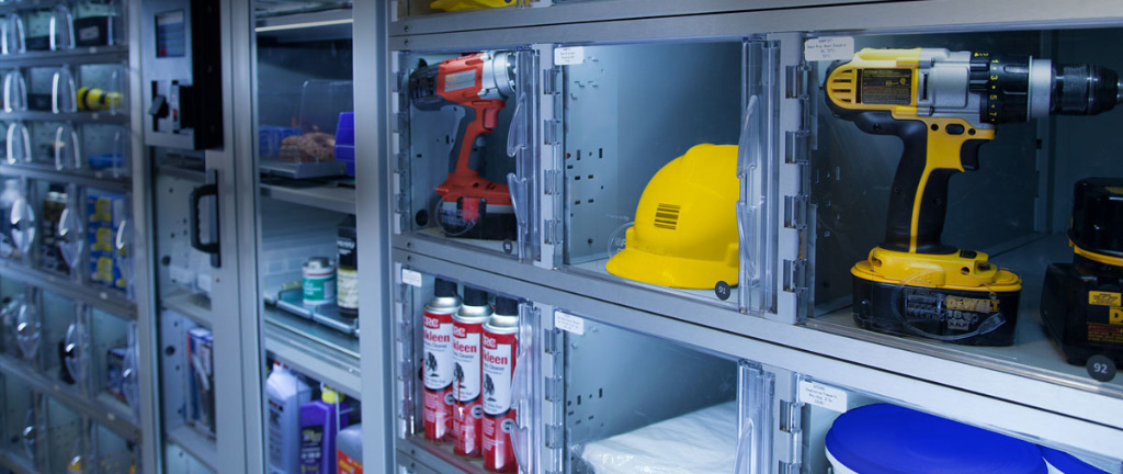 Individual compartment control for reusable assets, tools and calibrated instruments